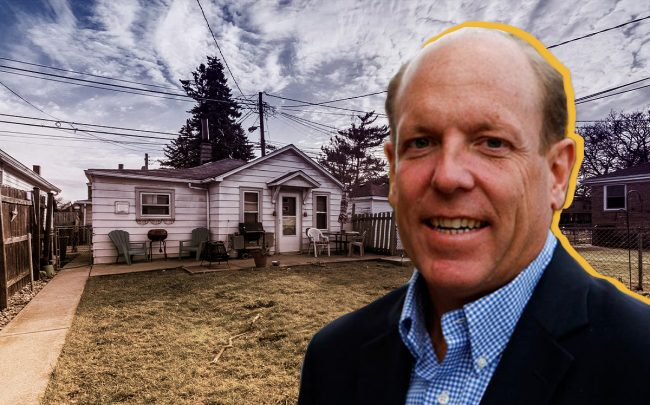 Alderman Harry Osterman (48th) and a coach house in Dunning (Credit: Zillow)