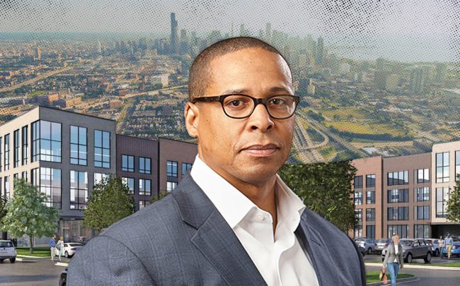 Charlton Hamer and a rendering of the Ogden Commons project (Credit: iStock)
