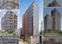 From left: Renderings of 800 W. Lake, 400 N. Aberdeen and 1400 W. Randolph (Credit: Chicago DPD via Twitter)
