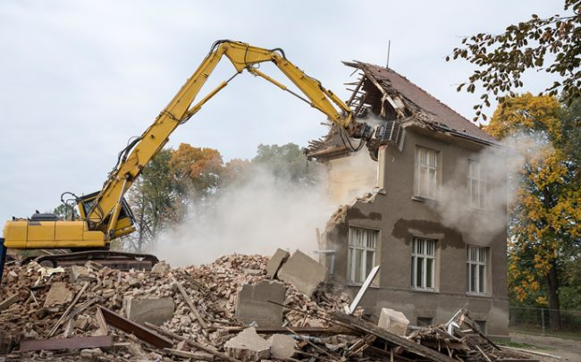 Old home being torn down (Credit: iStock)