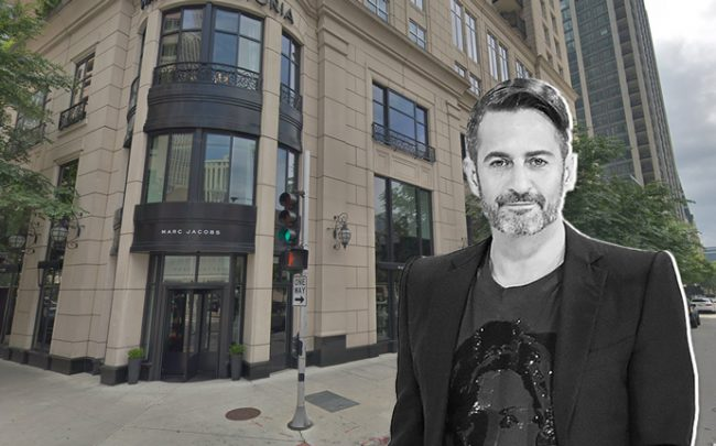 Marc Jacobs store at 11 E. Walton St., Marc Jacobs (Credit: Getty Images and Google Maps)