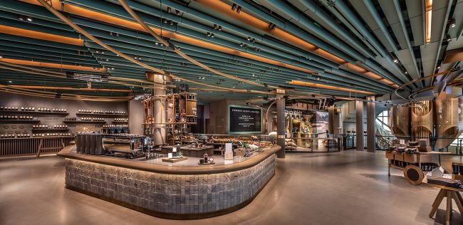Starbucks' roastery at 646 Michigan Avenue (Credit: Starbucks)
