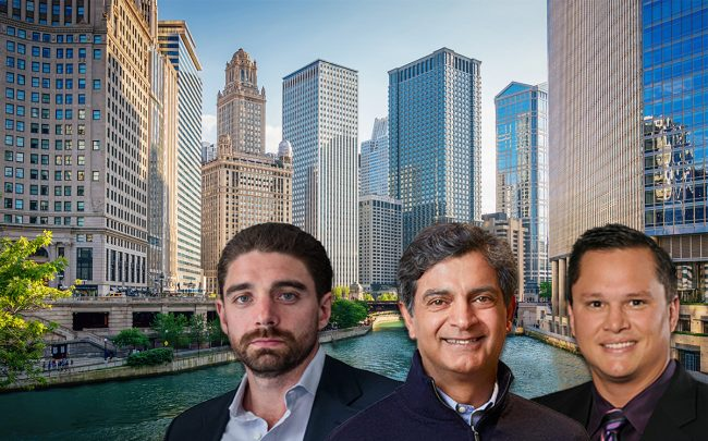 From left: Convene founder Ryan Simonetti, WeWork CEO Sandeep Mathrani, and Novel founder Bill Bennett (Credit: iStock)