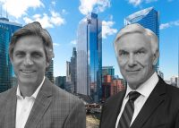 Managing director of Wanxiang American Real Estate Larry Krueger and CEO of Riverside Investment & Development John O'Donnell