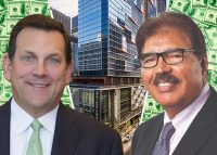 Northwestern Mutual CEO John Schlifske, Morguard CEO Rai Sahi and the Marquee at Block 37 apartments (Credit: iStock)