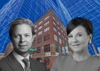 W. P. Carey Inc. CEO Jason E. Fox, Pritzker Realty Group founder and Chairman Penny Pritzker, 150 N. Clinton St. (Credit: Google Maps)