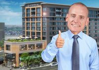 A photo illustration of Ald. Jim Gardiner and the Point at Six Corners (Credit: iStock)