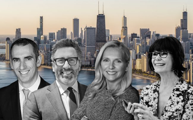 From left: Leigh Marcus of @properties, Mario Greco of Berkshire Hathaway HomeServices Chicago, Jennifer Mills of Jameson Sotheby's International Realty & Millie Rosenbloom of Baird & Warner