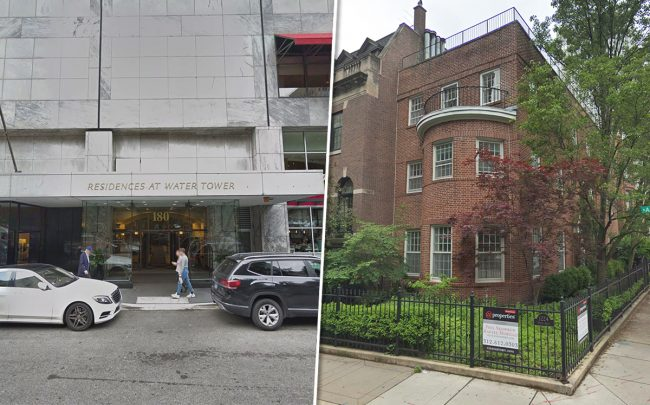 180 E. Pearson Street and 1224 N. Aster Street (Credit: Google Maps)