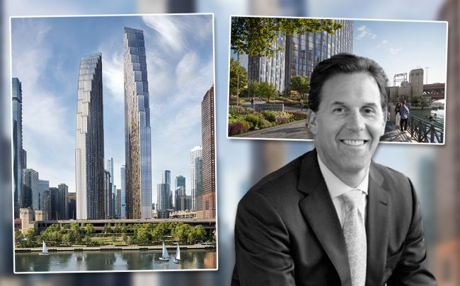 Related Midwest President Curt Bailey & project rendering for 400 Lake Shore Drive
