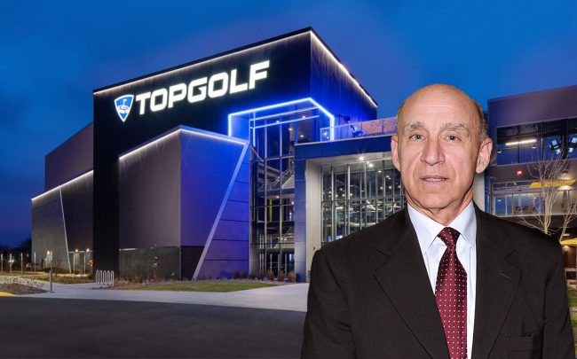 CEO of VEREIT Real Estate Glenn Rufrano and Topgolf at 2050 Progress Parkway (Credit: Andrew H. Walker/Getty Images and TOPGOLF INTERNATIONAL, INC.)