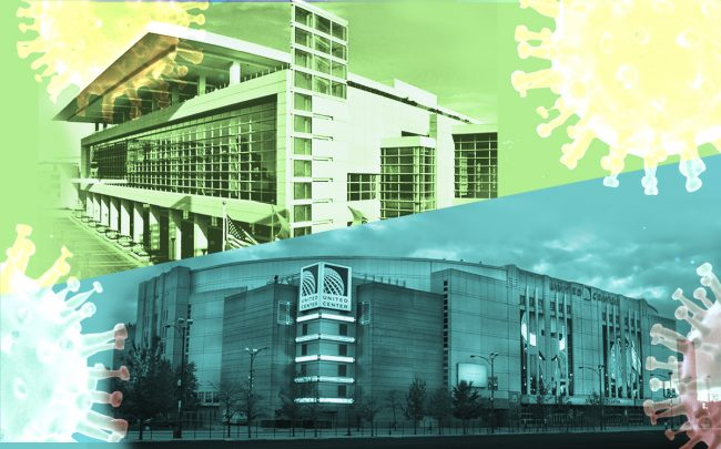 McCormick Place and United Center (Credit: McCormick Place, United Center)