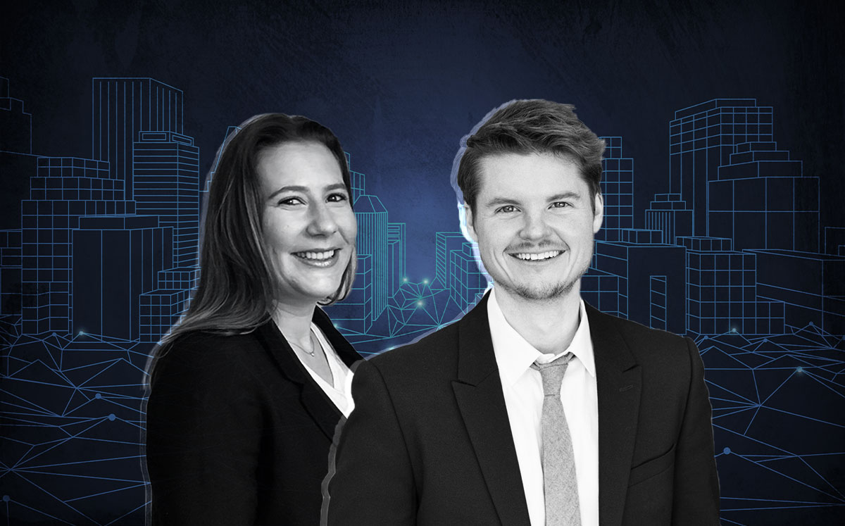 From left: Megan Gianopulos of Apartment People & Tristen Heimann of Luxury Living Chicago Realty