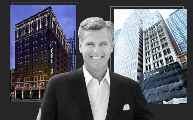 Founder, President and CEO of Oxford Capital Group John Rutledge with Hotel Felix and Hotel Julian (Credit: Oxford Capital Group, Hotel Felix and Google Maps)