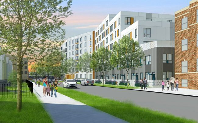 Rendering of the approved project at 2602-38 N. Emmett St. in Logan Square (Credit: Bickerdike Redevelopment Corporation)