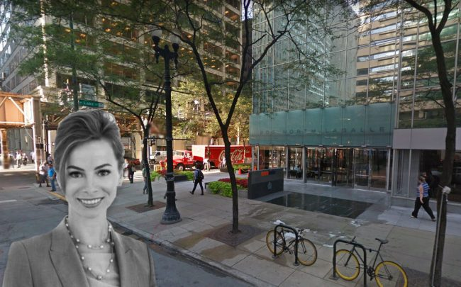 CareerBuilder CEO Irina Novoselsky and 200 N. LaSalle (Credit: Google Maps)