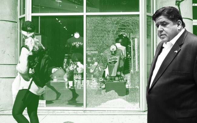Gov. Pritzker has called on insurers to quickly pay out claims on small businesses whose stores were looted or vandalized during the days of protest. (Getty)