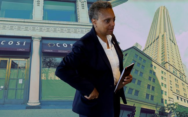 Mayor Lori Lightfoot said the city may have to raise property taxes to make up for some of the economic losses it sustained from the coronavirus closures