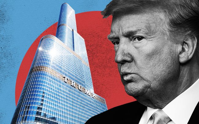 Donald Trump and the Trump Tower in Chicago (Getty, Trump Org., iStock)