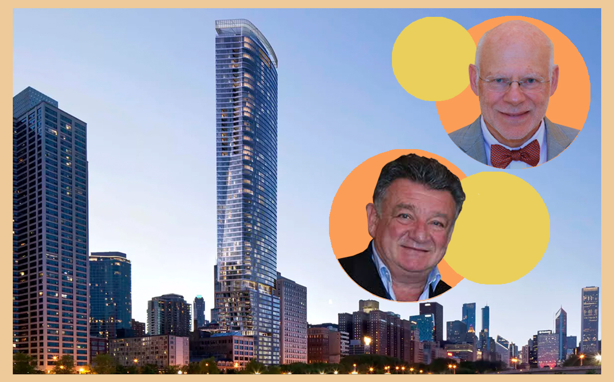 JK Equities' Jerry Karlik, Time Equities' Francis Greenburger and 1000M at 1000 S. Michigan Avenue in Downtown Chicago