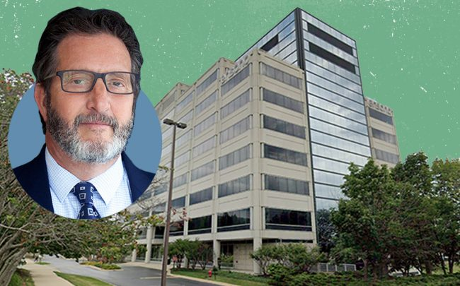Bradford Allen is eyeing a bright future in the Chicago suburban office market. Principal and co-founder Jeffrey A. Bernstein, and 3333 Finley Road property in Downers Grove the firm is buying. (Google Maps)