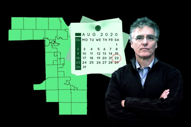 Cook County Sheriff Tom Dart urged Gov. J.B. Pritzker to extend the eviction moratorium, which is set to expire on Aug. 22. (Dart by by Scott Olson/Getty Images; iStock; Wikipedia Commons)