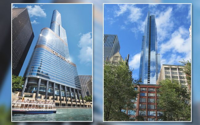 Trump International Hotel & Tower and Legacy at Millennium Park (Credit: Wikipedia)