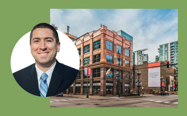 Vista Property principal Hymie Mishan, whose company is betting on the West Loop office market. (Images via Vista Property)