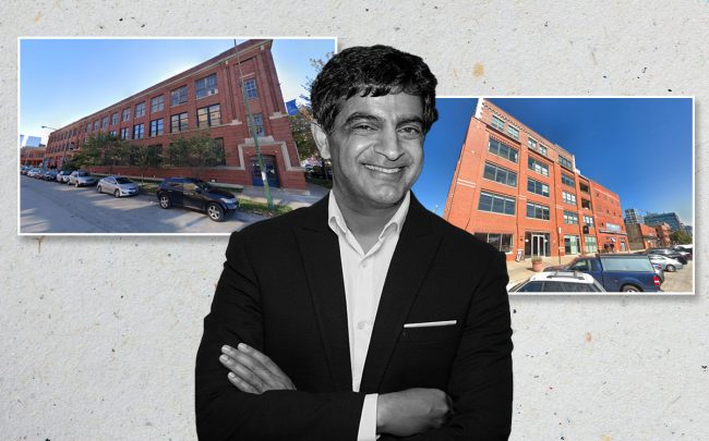 Sandeep Mathrani, 1155 W. Fulton and 1114 W. Fulton (Credit: Google Maps and John Sciulli/Getty Images for Bloomingdale's)