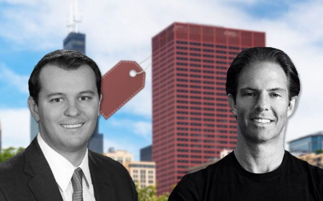 Deutsche Finance America managing partner Jason Lucas and Michael Shvo, with 333 South Wabash