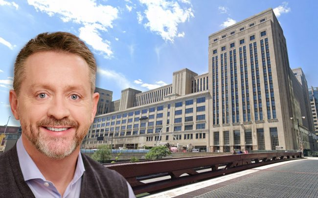 Brian Whiting, CEO of Telos Group, and the Old Post Office (Credit: Google Maps)