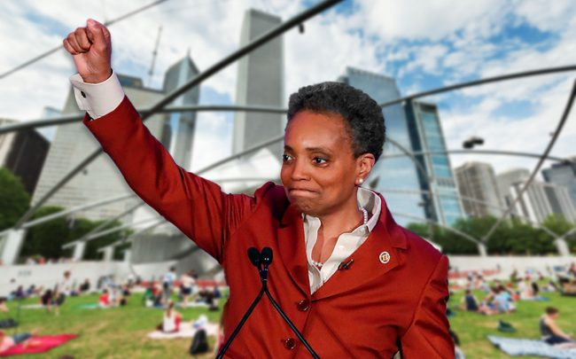 Lori Lightfoot (Credit: KAMIL KRZACZYNSKI/AFP via Getty Images)