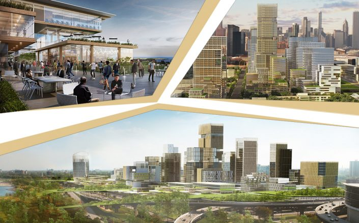 Renderings of the Bronzeville Lakefront (Farpoint Development)