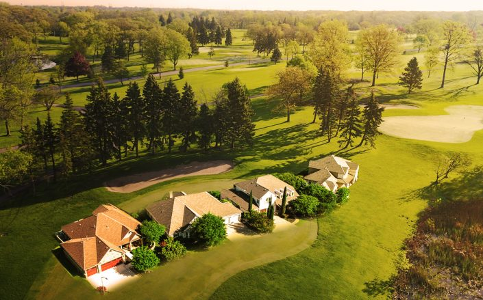 Photo illustration of the Silver Lake Country Club (Silver Lake CC, iStock/Illustration by Kevin Rebong for TRD)