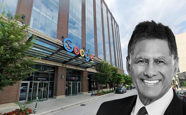1000 W. Fulton Market and American Realty Advisors CEO Stanley Iezman (Google Maps)