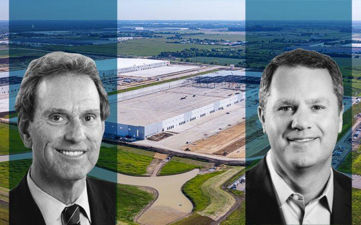 3501 Brandon Road in Joliet with CenterPoint Properties CEO Bob Chapman and Walmart CEO Doug McMillon (CREXI)