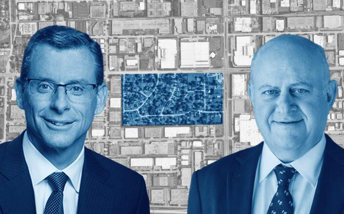 ML Realty Partners founder Michael Luecht, Prologis CEO Hamid Moghadam and Mohawk Terrace. (Google Maps, ML Realty, Prologis)