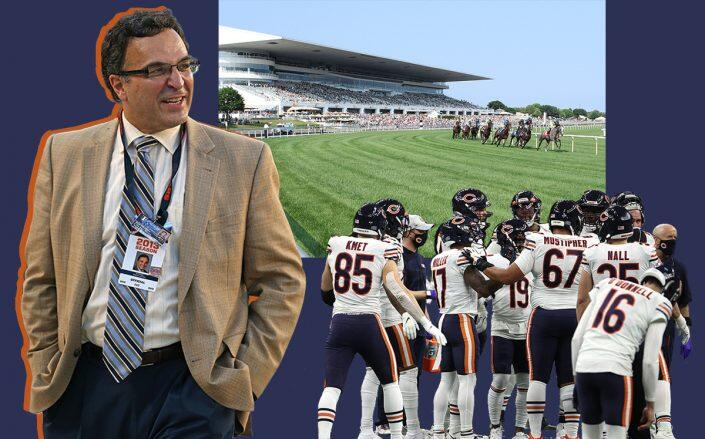 Chicago Bears president and CEO Ted Phillips and Arlington Park (Getty)