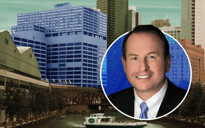 Developer John Murphy with the River North hotel. (350 North Orleans, Murphy Real Estate Services)