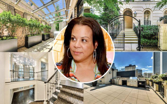Juanita Vanoy and the Chicago Property. (Getty, @properties)