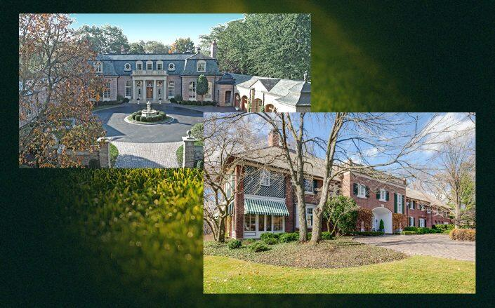 Mansions at 980 N. Green Bay Road and 55 E. Onwentsia Road in Lake Forest, which both sold this month. (Redfin)