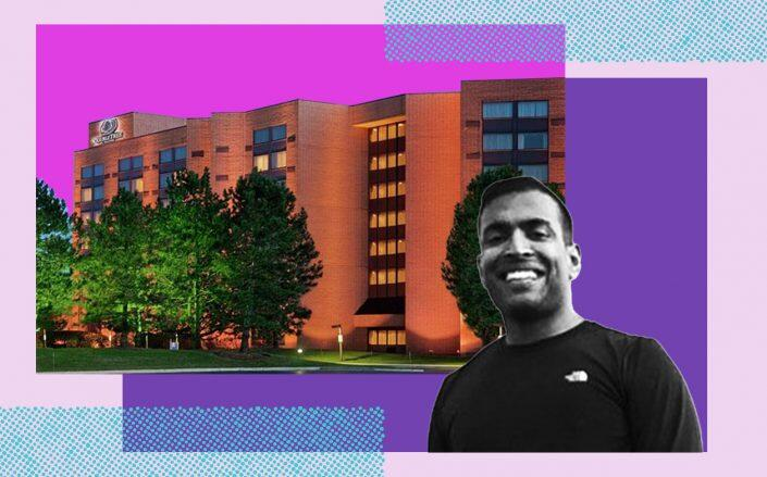 EMA Hotels founder Jigar Patel and 3003 Corporate West Drive (LinkedIn, Hilton)