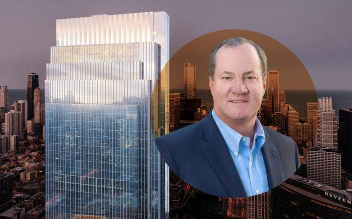 Hines CEO Jeffrey Hines with Salesforce Tower (Hines)