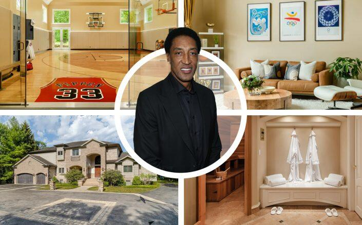 Scottie Pippen and the Chicago property (Getty, Airbnb)