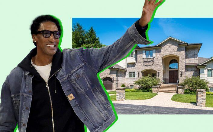 Scottie Pippen and the Highland Park mansion (Getty, Berkshire Hathaway)