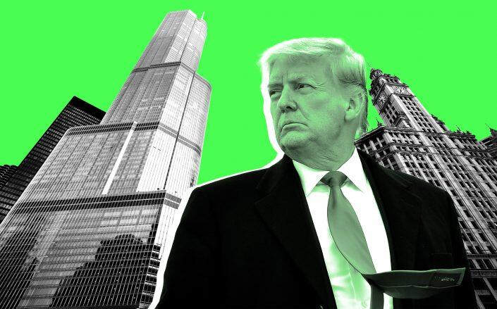 Donald Trump with the Trump International Hotel & Tower in Chicago (Getty, iStock)