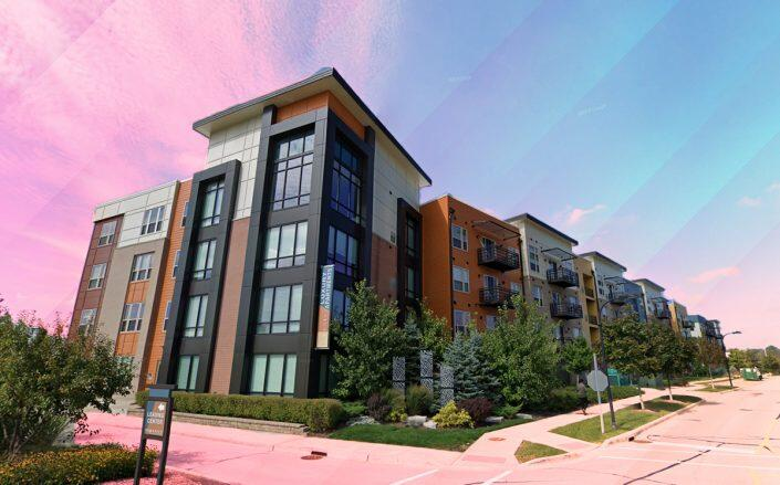 Suburban apartment complex hits market in Glenview