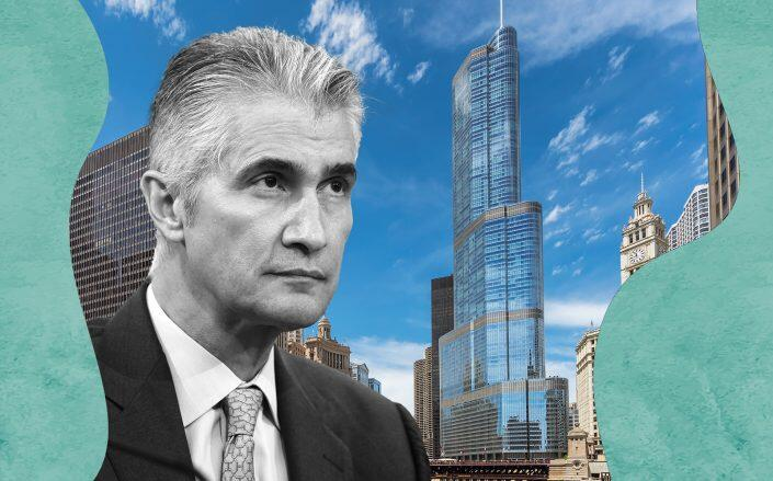 Jeff Smisek with the Trump International Chicago Tower & Hotel (Getty, iStock)