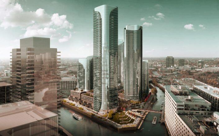 Renderings of the planned developments (Chicago Department of Planning and Development)