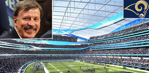 Rendering of the Inglewood stadium (credit: HKS)